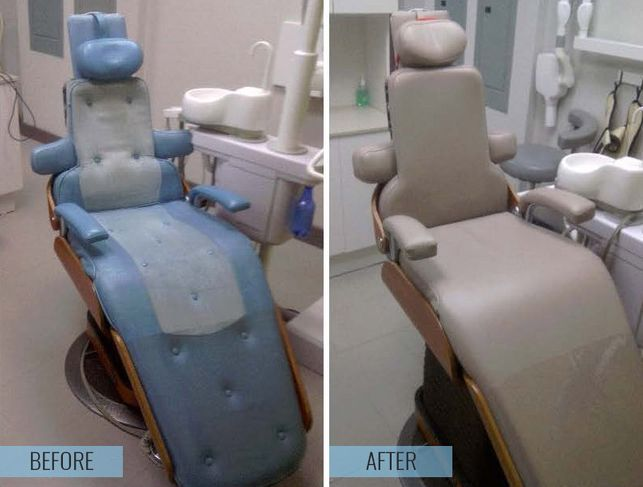 before and after dental upholstery